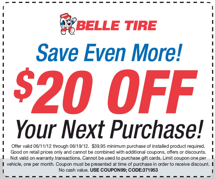 How to Use Belle Tire Coupons